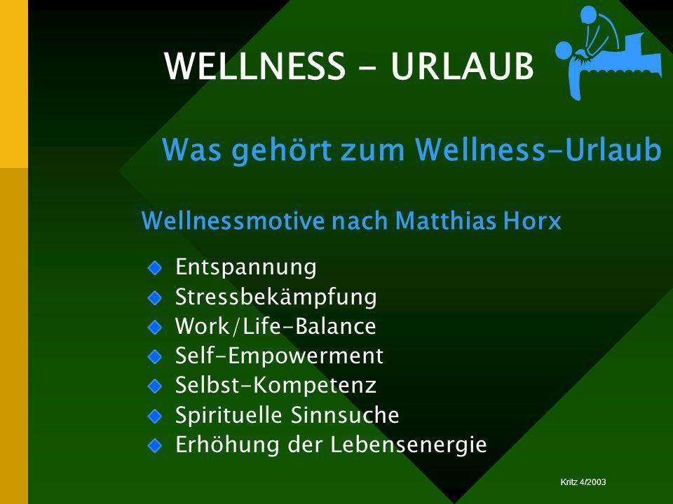 WELLNESS - URLAUB Was gehört zum Wellness-Urlaub