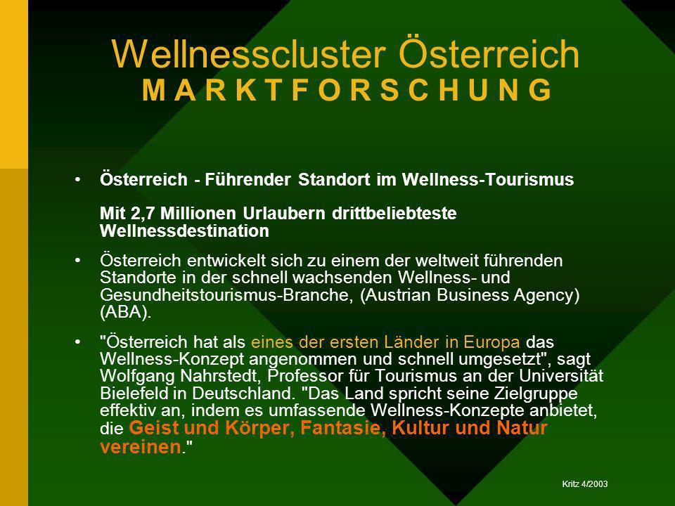 Wellnesscluster Österreich M A R K T F O R S C H U N G