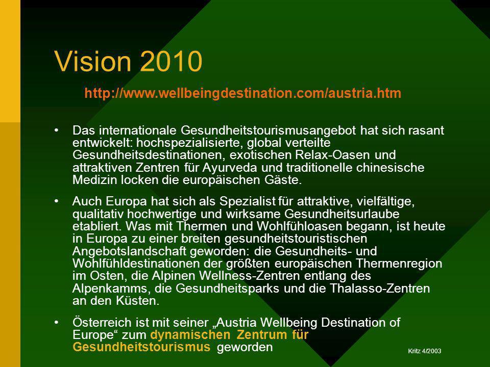 Vision 2010 http://www.wellbeingdestination.com/austria.htm