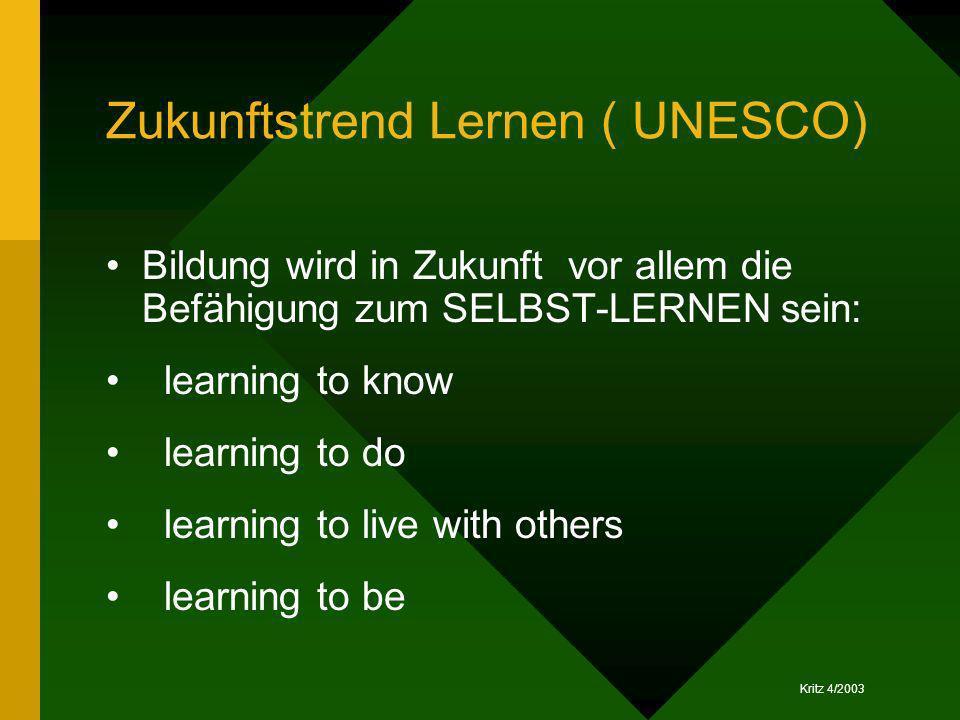 Zukunftstrend Lernen ( UNESCO)