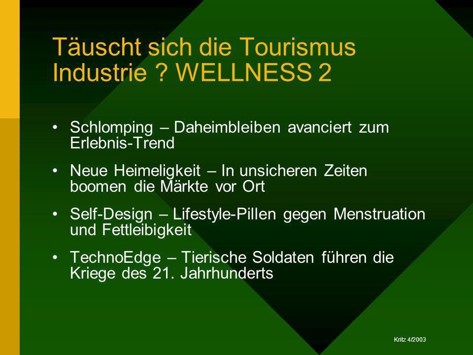 Täuscht sich die Tourismus Industrie WELLNESS 2