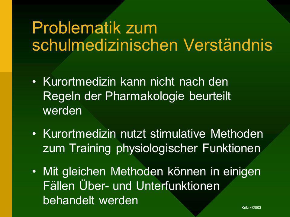 Problematik zum schulmedizinischen Verständnis