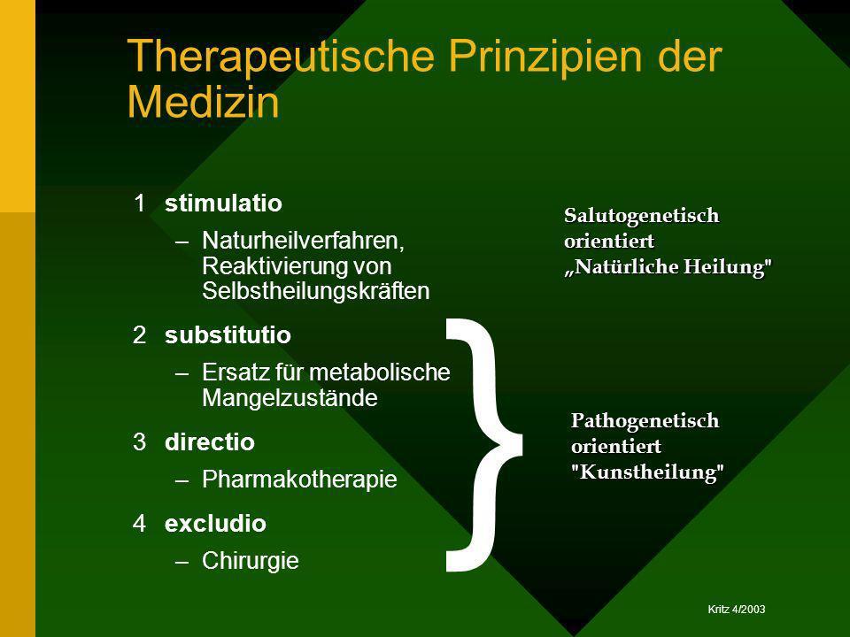 Therapeutische Prinzipien der Medizin