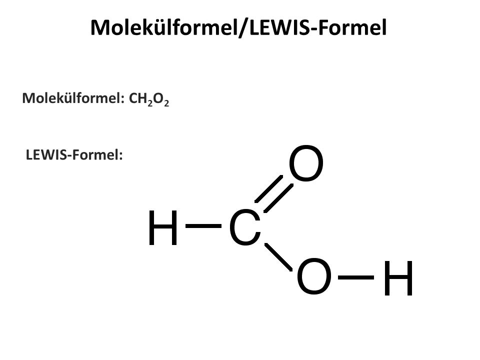 Molekülformel/LEWIS-Formel