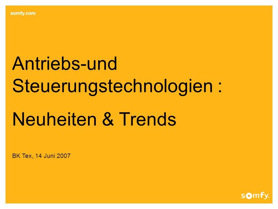 Steuerungstechnologien : Neuheiten & Trends