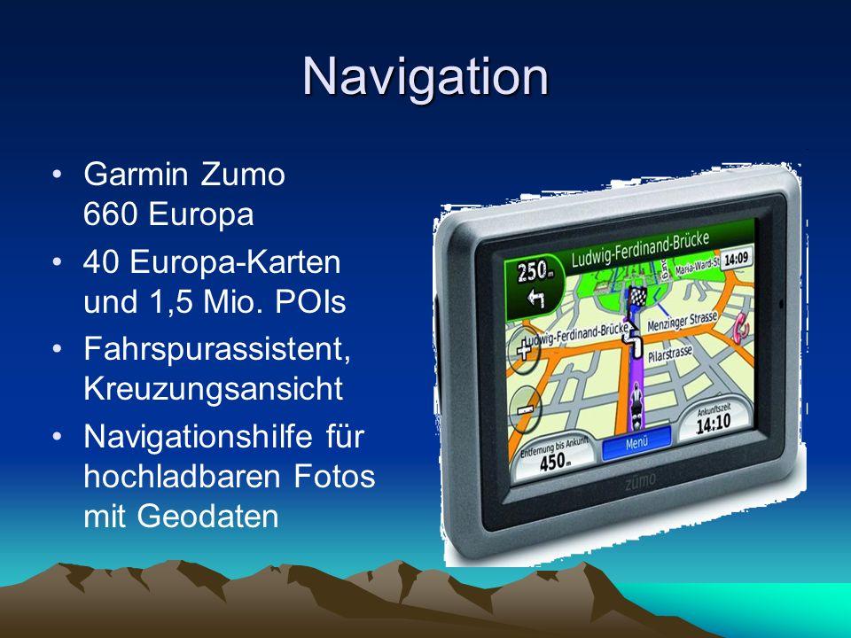 Navigation Garmin Zumo 660 Europa 40 Europa-Karten und 1,5 Mio. POIs