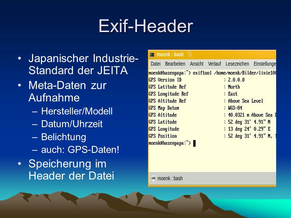 Exif-Header Japanischer Industrie-Standard der JEITA