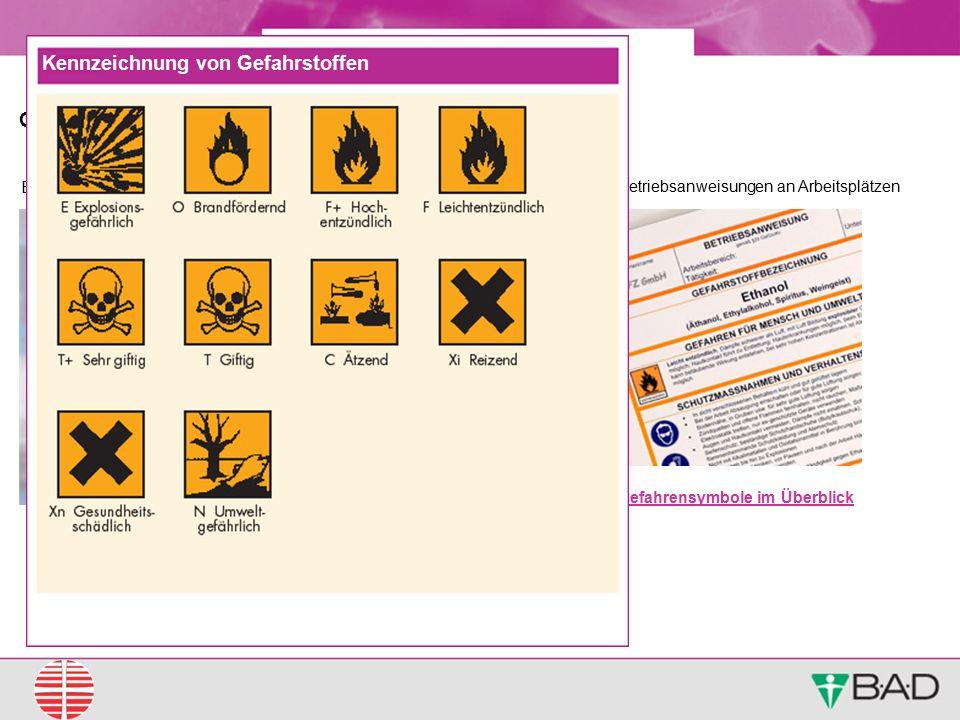 Kennzeichnung von Gefahrstoffen
