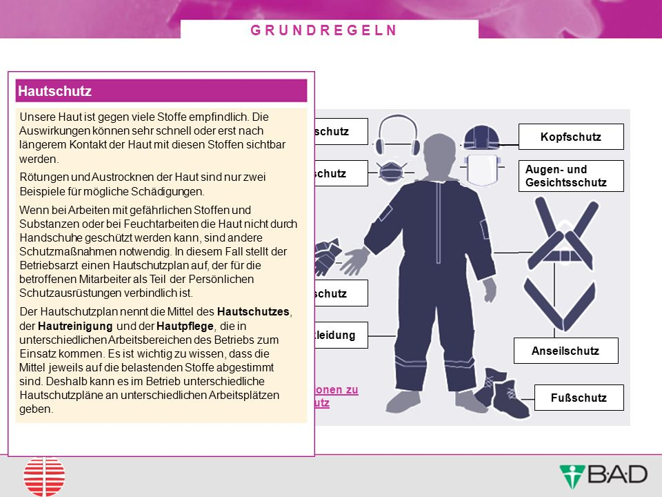 Persönliche Schutzausrüstungen (PSA) Hautschutz