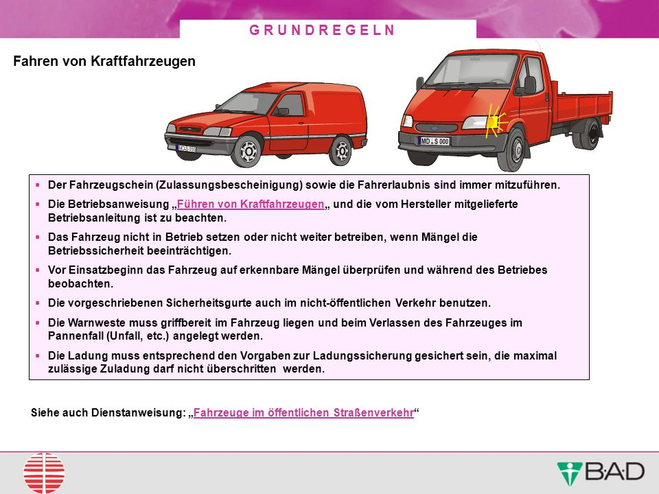 Fahren von Kraftfahrzeugen