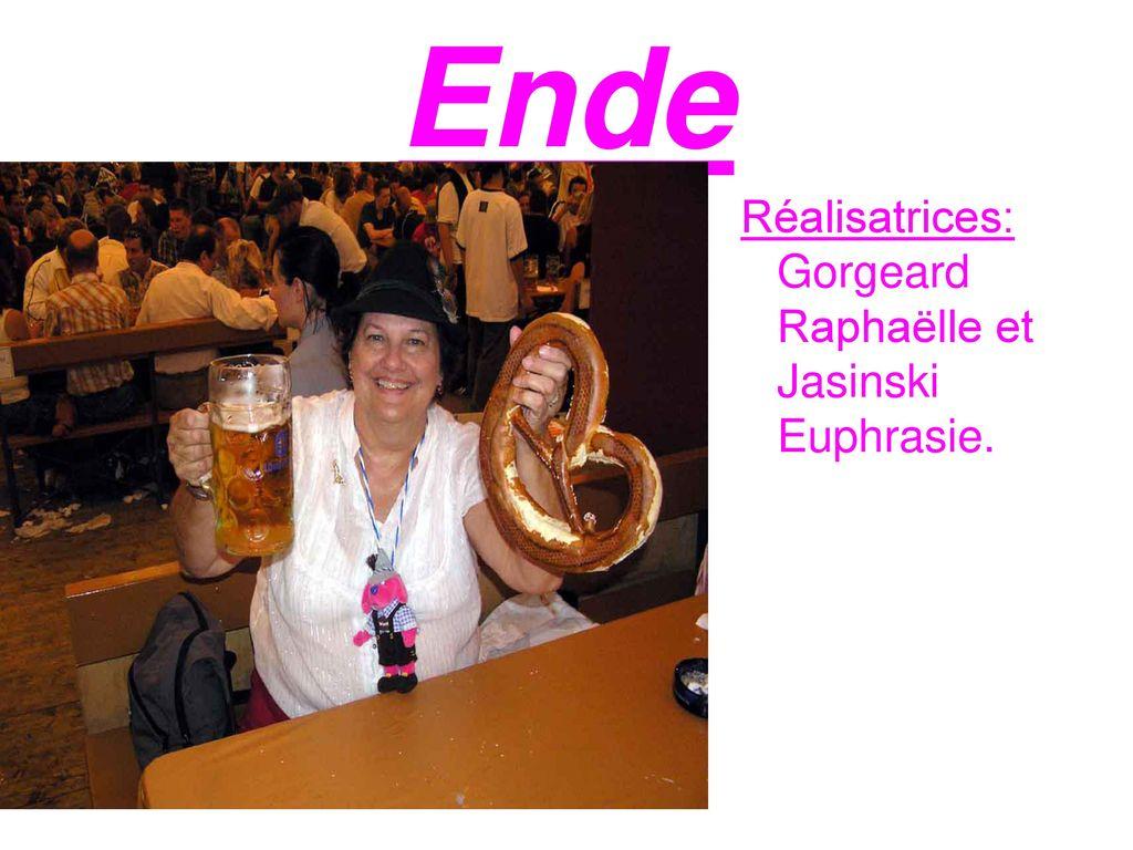 Ende Réalisatrices: Gorgeard Raphaëlle et Jasinski Euphrasie.
