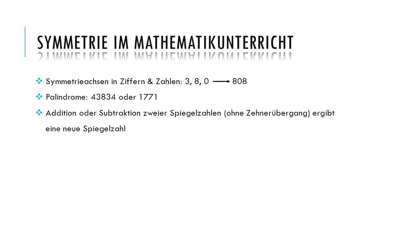 Symmetrie im Mathematikunterricht