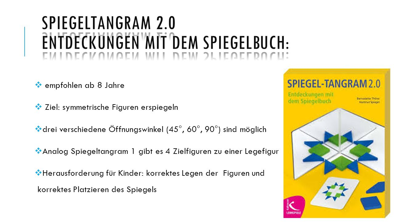 Spiegeltangram 2.0 Entdeckungen mit dem Spiegelbuch: