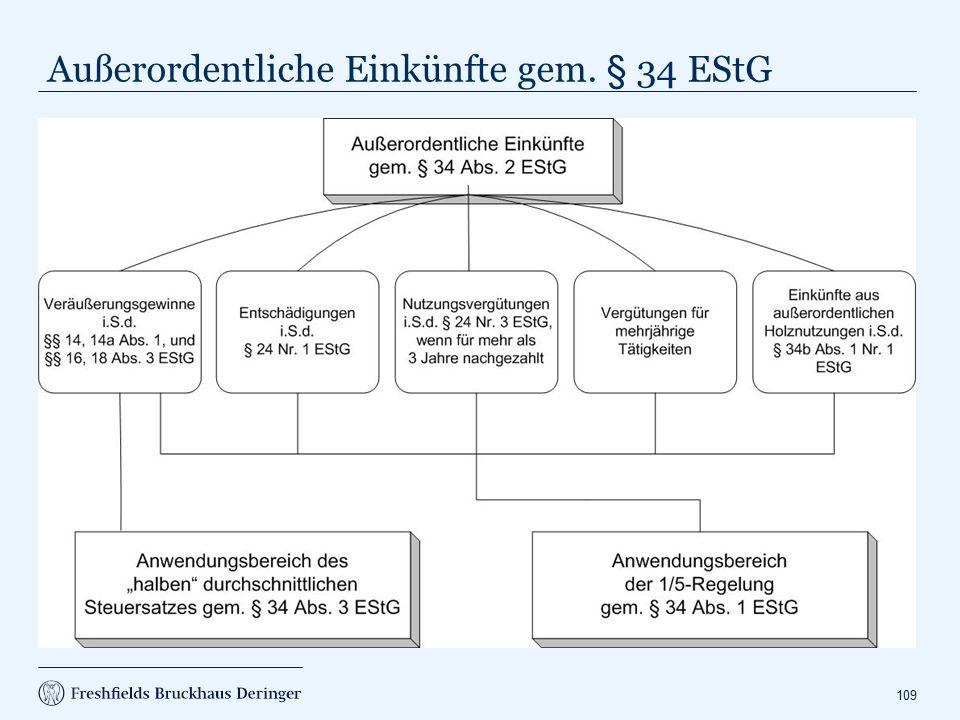 1/5-Regelung gem. § 34 Abs. 1 EStG