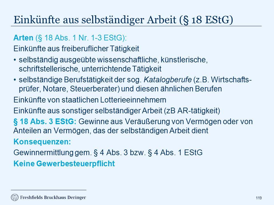 Gewinnermittlung nach § 4 Abs. 3 EStG (1)