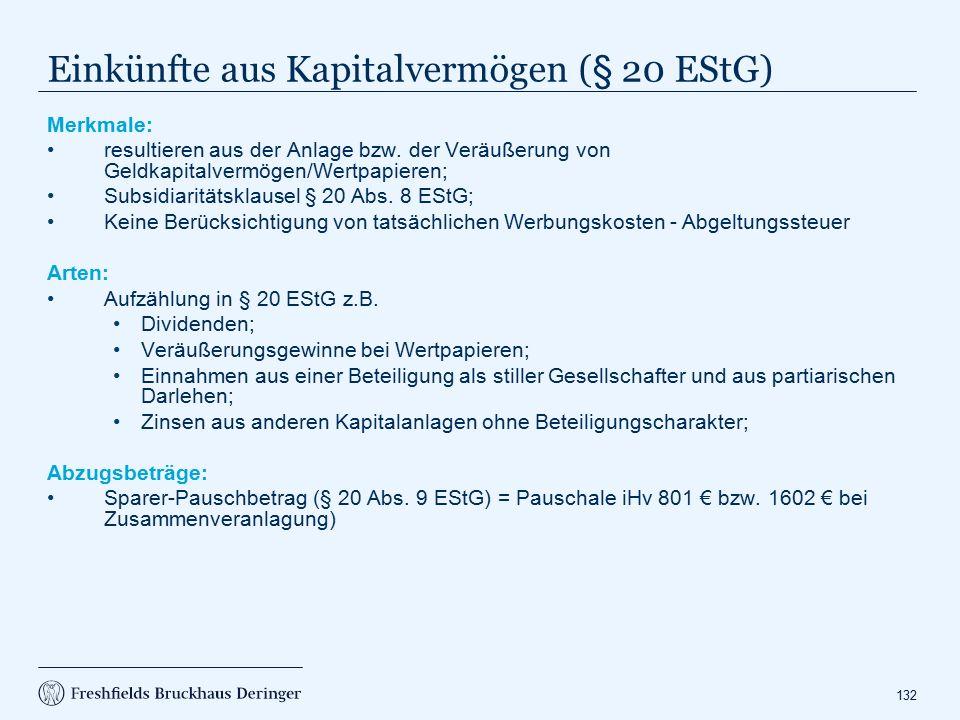 Abgeltungssteuer (§ 32 d EStG)