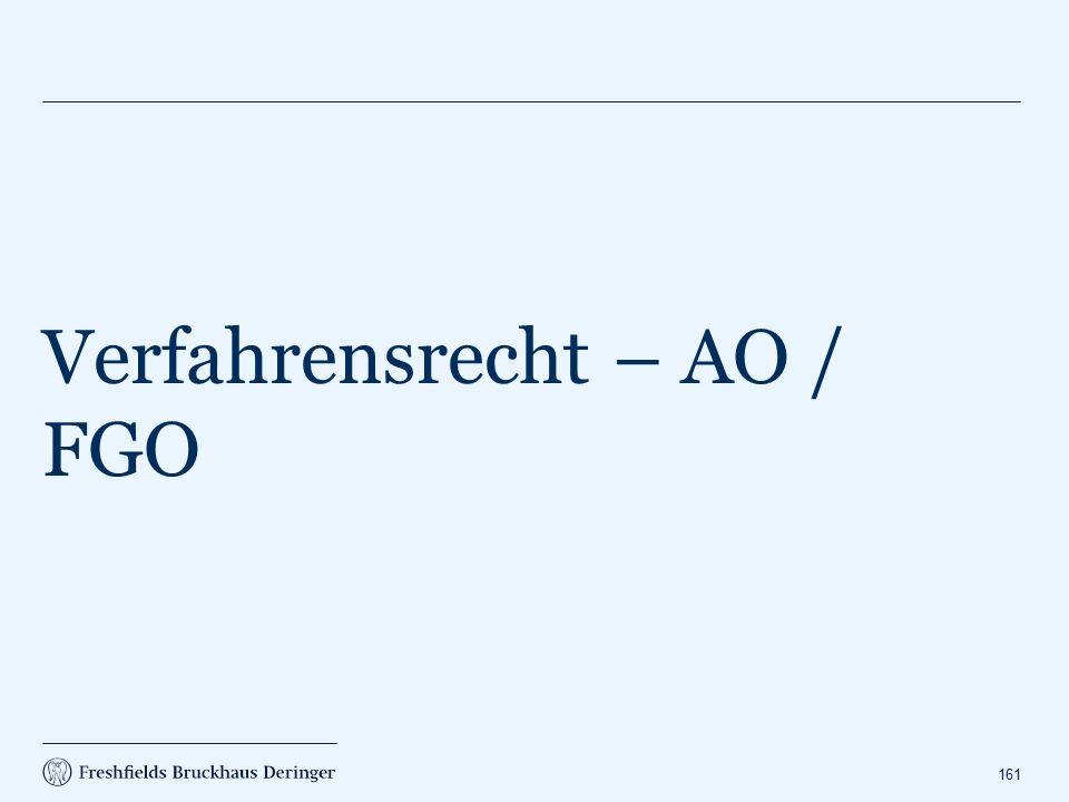 Verfahrensrecht – AO / FGO
