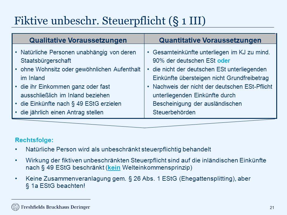 EU-Familienangehörige (§ 1a EStG)
