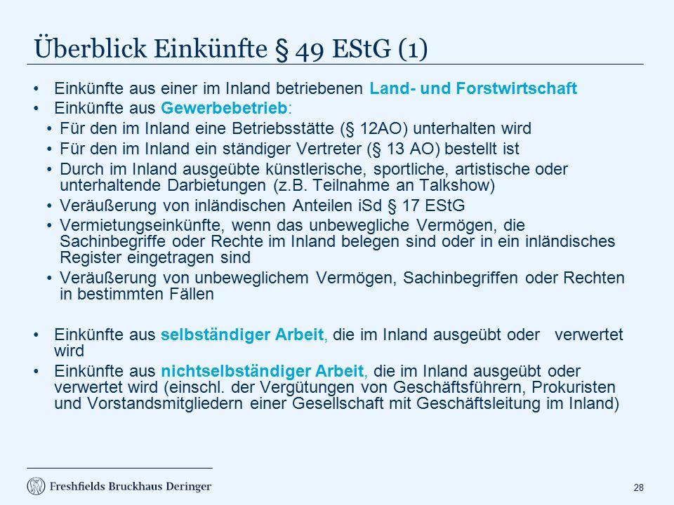 Überblick Einkünfte § 49 EStG (2)