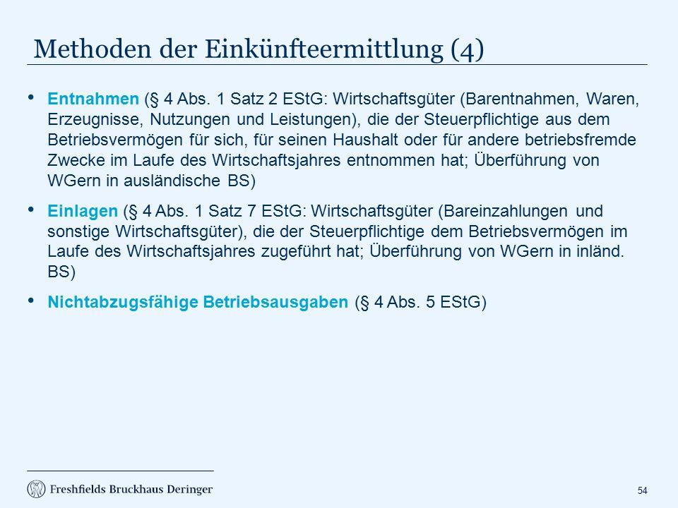 Exkurs Zinsschranke (§ 4 h EStG)