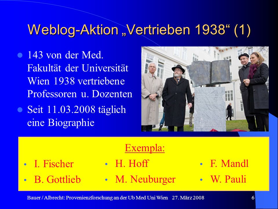 """Weblog-Aktion """"Vertrieben 1938 (1)"""