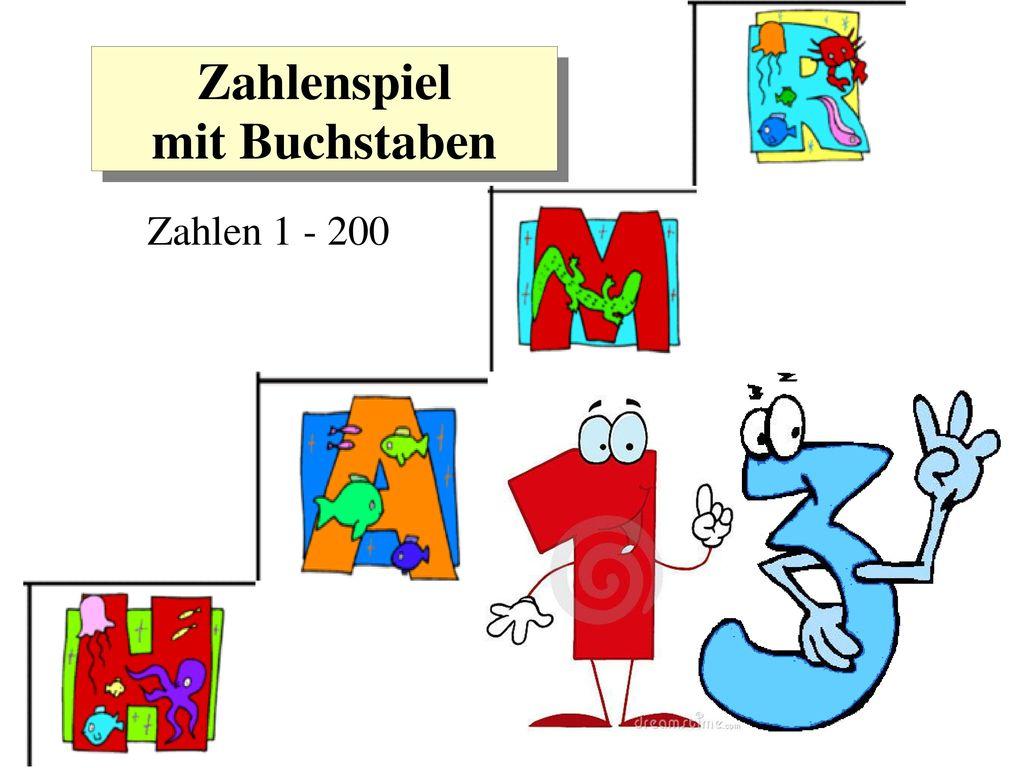 Zahlenspiel mit Buchstaben