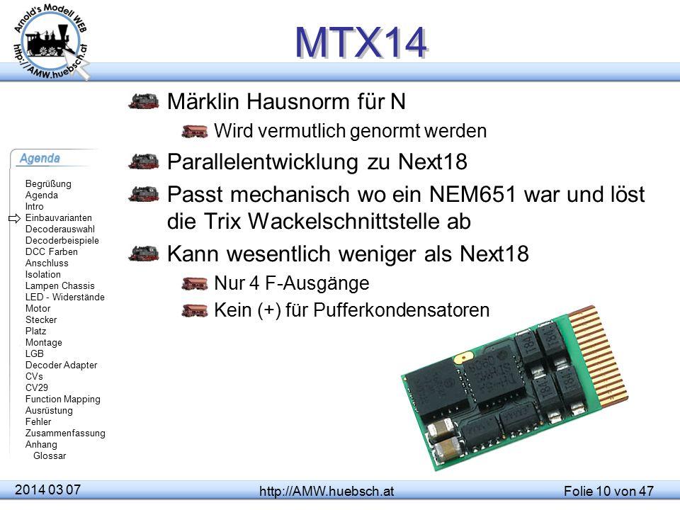 MTX14 Märklin Hausnorm für N Parallelentwicklung zu Next18