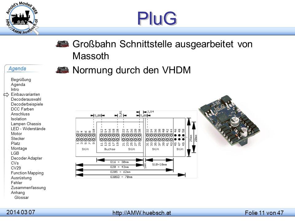 PluG Großbahn Schnittstelle ausgearbeitet von Massoth