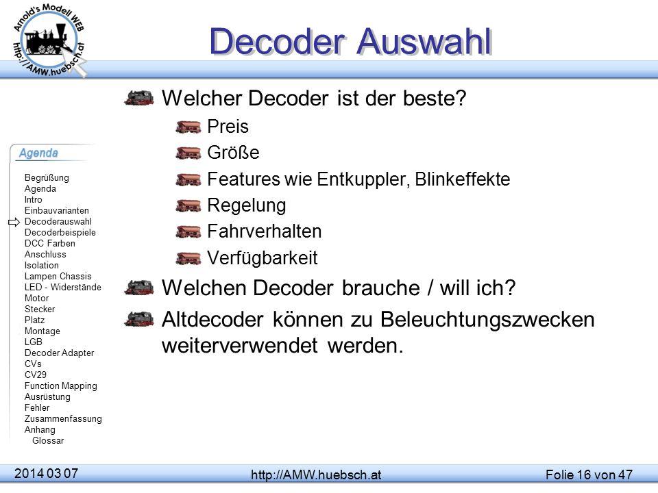 Decoder Auswahl Welcher Decoder ist der beste