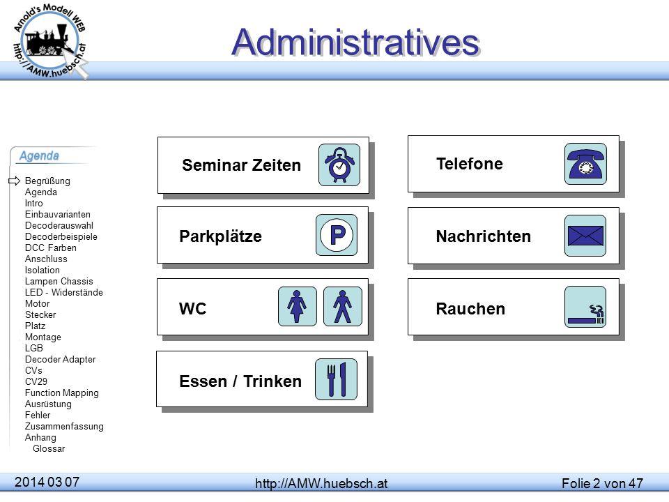 Administratives Seminar Zeiten Telefone  Parkplätze Nachrichten WC