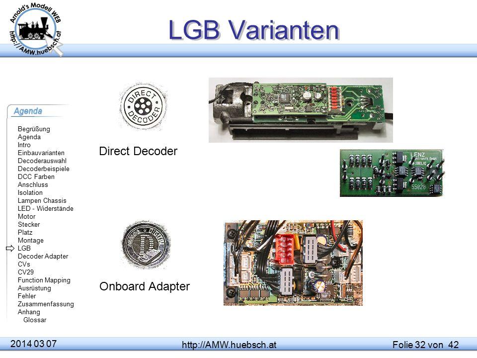 LGB Varianten Direct Decoder  Onboard Adapter 2014 03 07