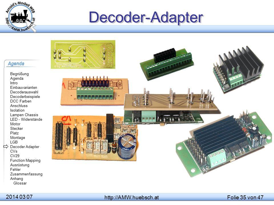 Decoder-Adapter  2014 03 07 http://AMW.huebsch.at