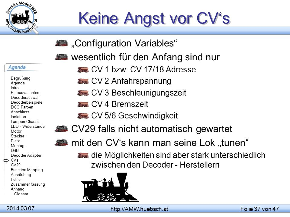 """Keine Angst vor CV's """"Configuration Variables"""