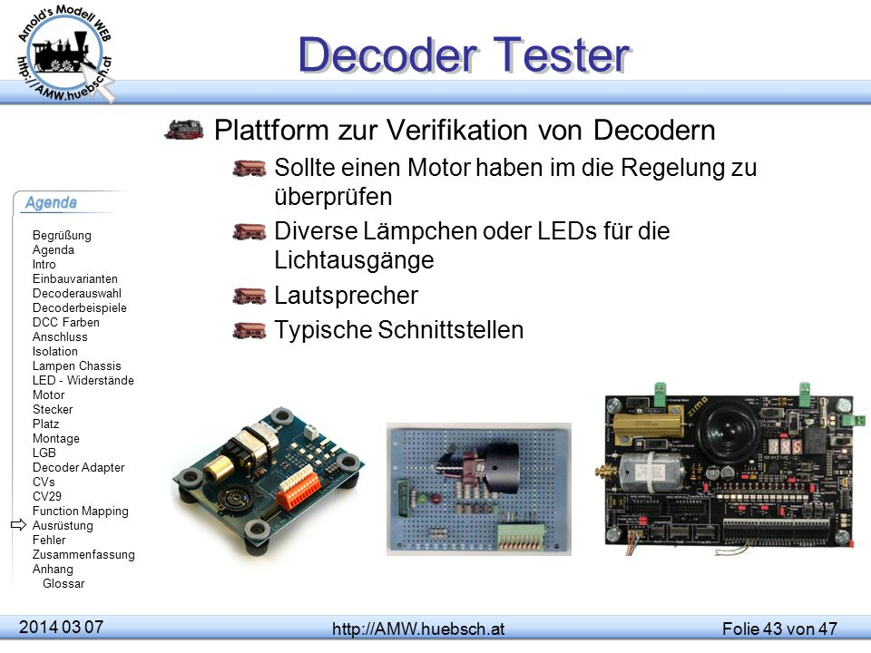 Decoder Tester Plattform zur Verifikation von Decodern