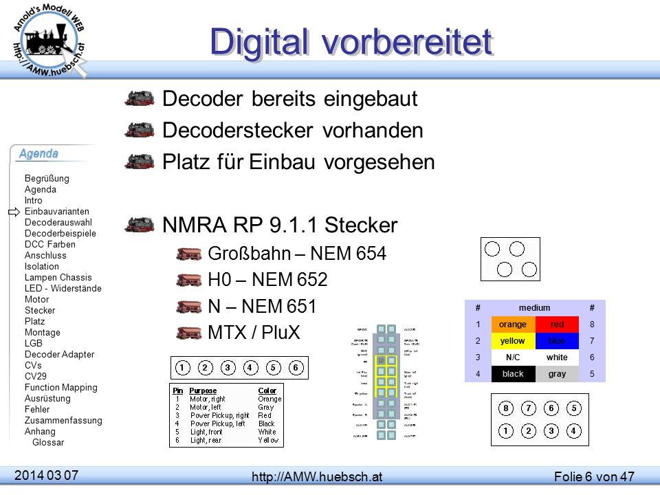 Digital vorbereitet Decoder bereits eingebaut Decoderstecker vorhanden