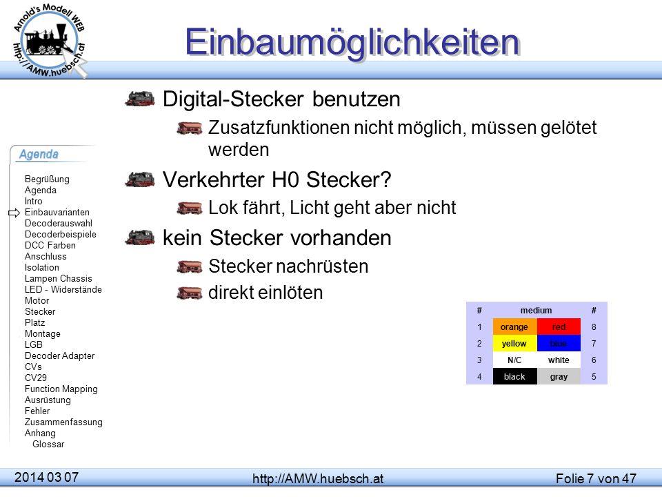 Einbaumöglichkeiten Digital-Stecker benutzen Verkehrter H0 Stecker
