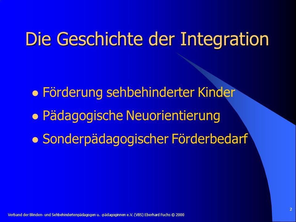 Die Geschichte der Integration