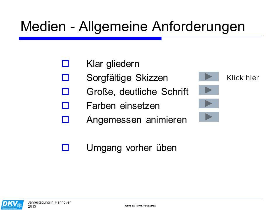 Medien - Allgemeine Anforderungen