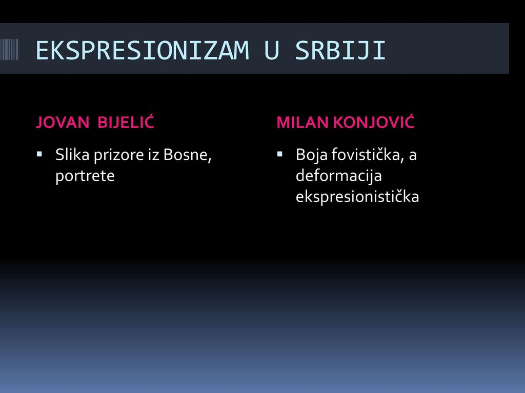 EKSPRESIONIZAM U SRBIJI
