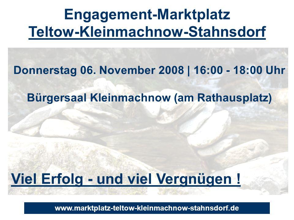 Engagement-Marktplatz Teltow-Kleinmachnow-Stahnsdorf