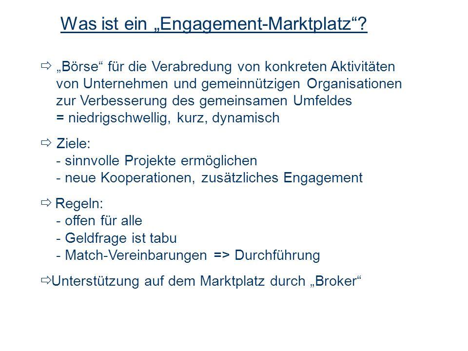 """Was ist ein """"Engagement-Marktplatz"""