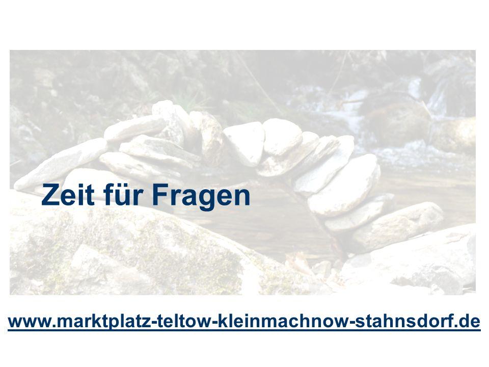 Zeit für Fragen www.marktplatz-teltow-kleinmachnow-stahnsdorf.de