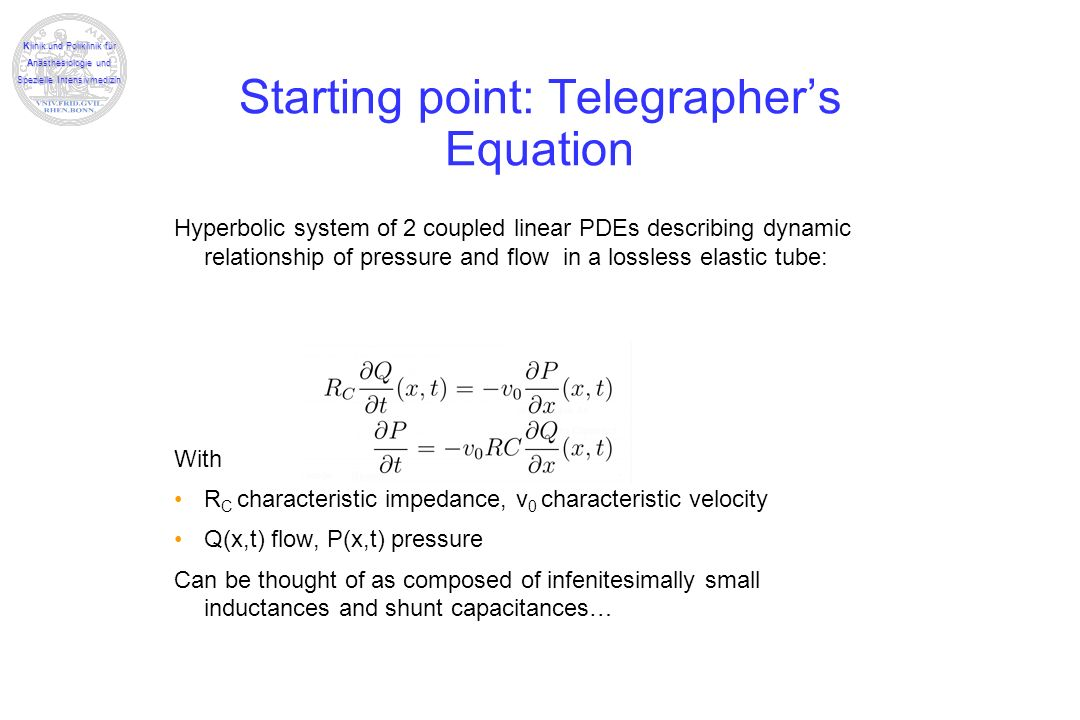 Starting point: Telegrapher's Equation