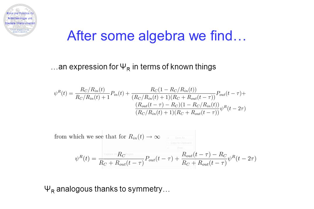 After some algebra we find…