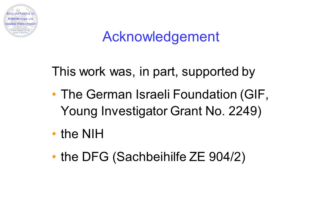 Acknowledgement This work was, in part, supported by
