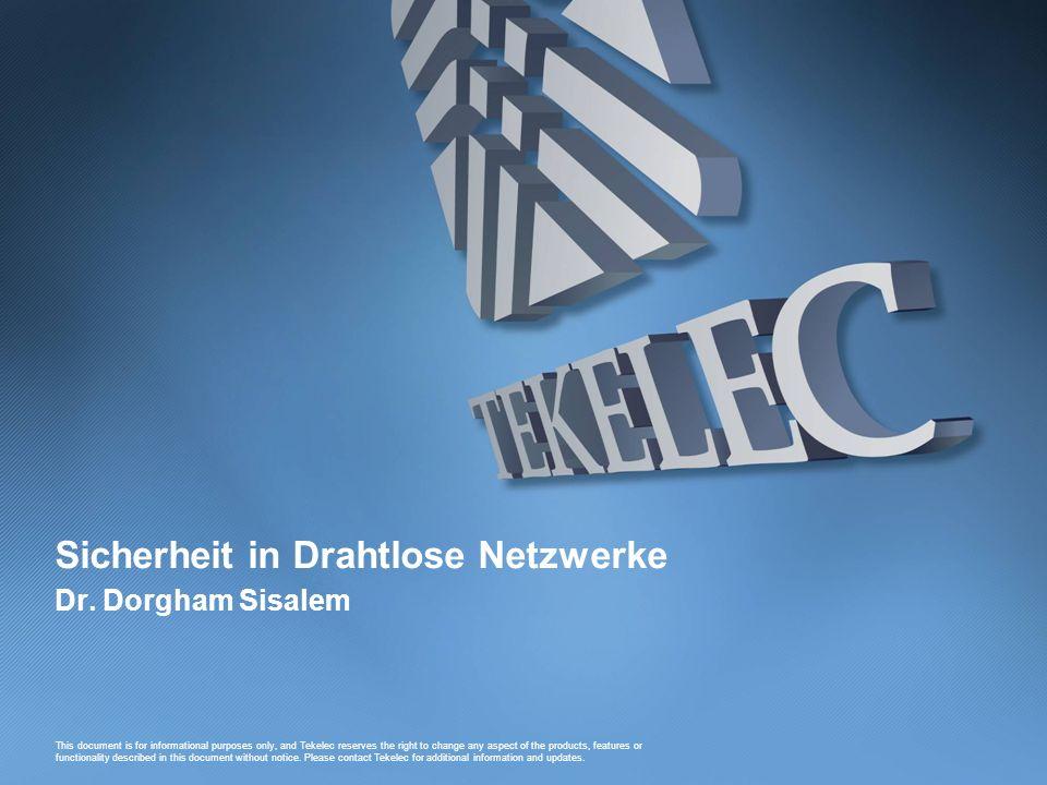 Sicherheit in Drahtlose Netzwerke