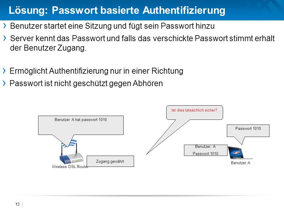 Lösung: Passwort basierte Authentifizierung