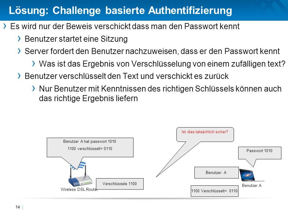 Lösung: Challenge basierte Authentifizierung