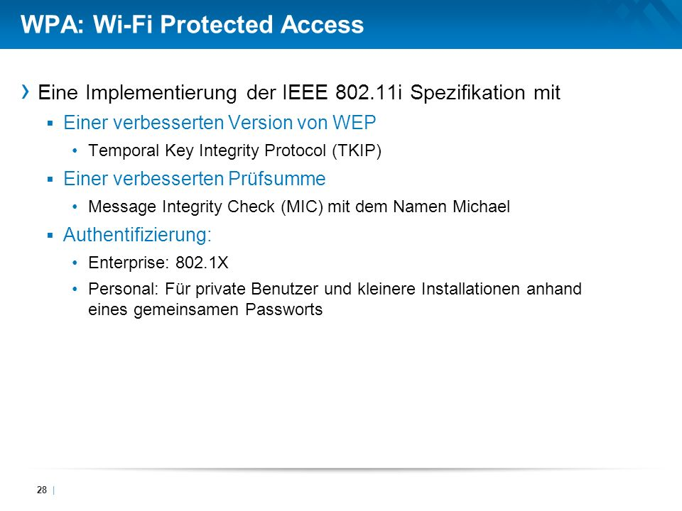 WPA: Wi-Fi Protected Access