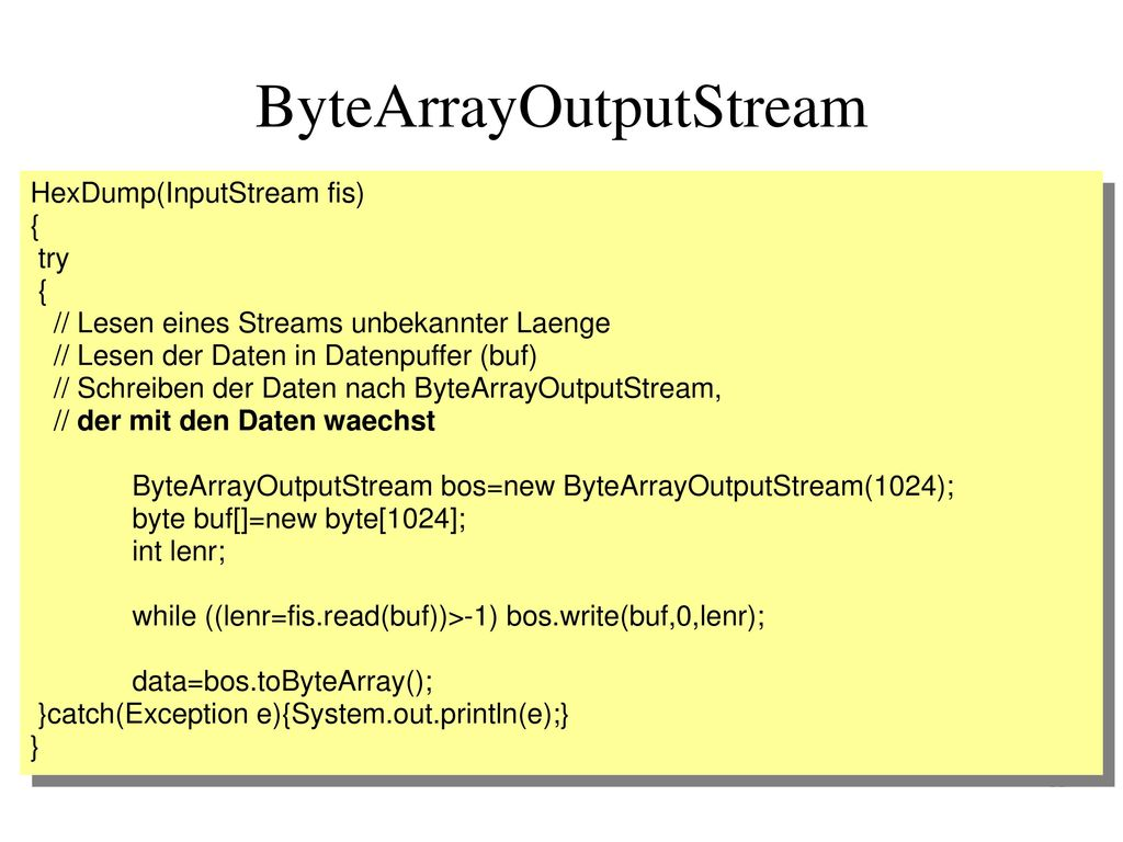 ByteArrayOutputStream